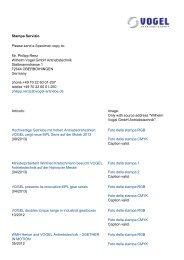 Stampa Servizio Please send a Specimen copy to - Vogel ...