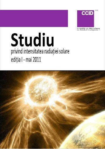 Studiu privind intensitatea radiatiei solare V3