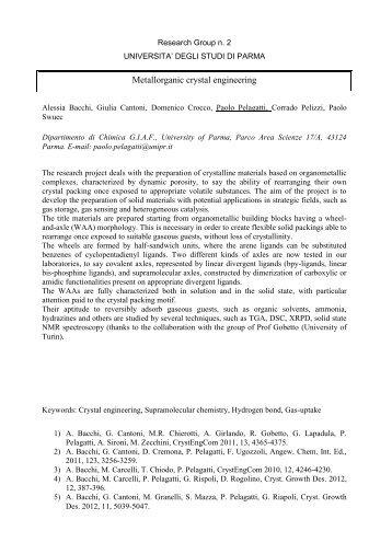 Istruzioni per la presentazione della Ricerca del Gruppo ... - CIRCC