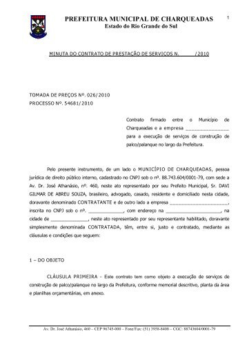 Minuta do Contrato - Charqueadas.rs.gov.br