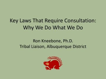 Laws that Trigger Consultation - U.S. Army Corps of Engineers