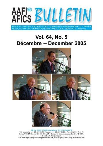 la vie des associations - AAFI-AFICS, Geneva - UNOG
