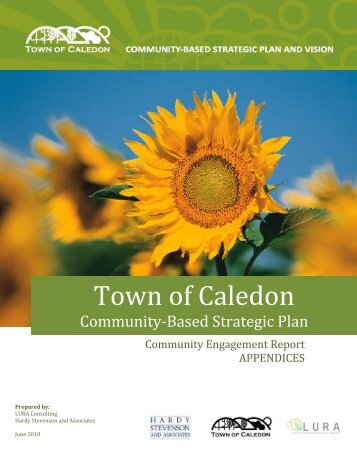Community Engagement Report – Appendices - Town of Caledon