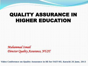 THE UK'S QUALITY BODY FOR HIGHER EDUCATION