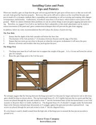 Installing Gates and Posts Tips and Pointers - Hoover Fence