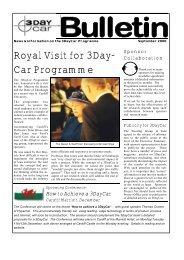 Sponsors' Bulletin, Sept 2000 - 3DayCar