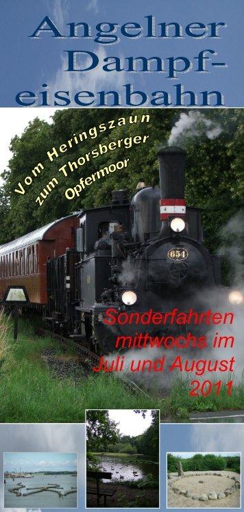 Sonderfahrten mittwochs im Juli und August 2011 - Angelner ...