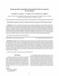 Estudo genético quantitativo da produção de leite em caprinos da ...