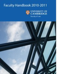 Contents - Faculty of Law - University of Cambridge