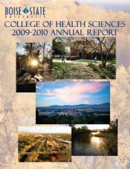 College of Health Sciences - Boise State University