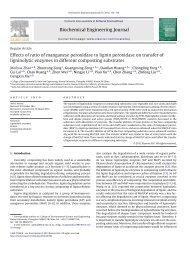 Effects of ratio of manganese peroxidase to lignin peroxidase on ...