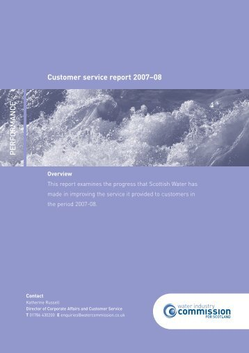 Customer service report 2007-08 Performance - Water Industry ...