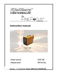 Instruction manual - Walsh Engineering