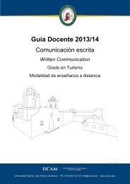 Comunicación Escrita - UCAM Universidad Católica San Antonio de ...