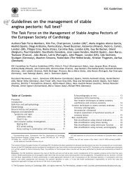 Guidelines on the Management of Stable Angina Pectoris ... - Cardio