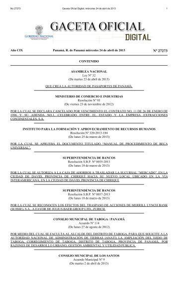 Gaceta Oficial Digital, miércoles 24 de abril de 2013