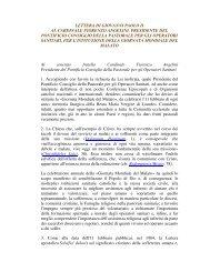 Lettera di Giovanni Paolo II per l'istituzione della ... - ArezzoGiovani.it