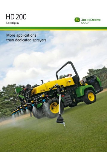 HD 200 Sprayer Brochure - John Deere