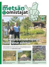Lue lehteä verkossa! - Metsänhoitoyhdistys Länsi-Raja, MHY