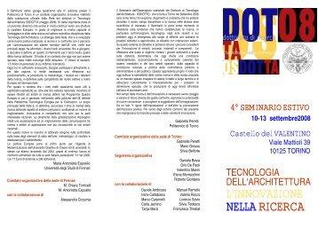 l'innovazione nella ricerca - Corso di Dottorato in Tecnologia dell ...