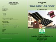 SOLAR ENERGY – THE FUTURE - Indiagovernance.gov.in
