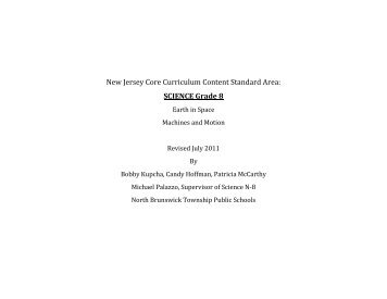 Grade 8 Science Curriculum 2011 (pdf) - North Brunswick Twp ...