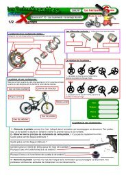Les roulements - le serrage de selle - EuroTech