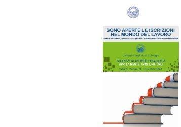 Offerta formativa a.a. 2011-2012 - Lettere e filosofia - Università ...