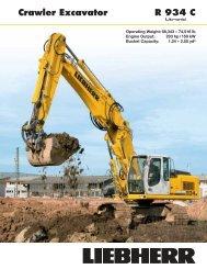 Crawler Excavator R 934 C - Psndealer.com psndealer