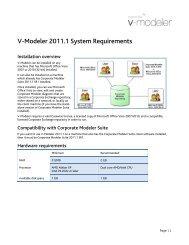 V-Modeler 2011.1 System Requirements - Casewise