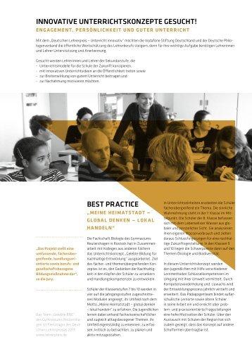 BEST PRACTICE - Deutscher Lehrerpreis
