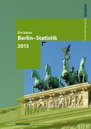 Die kleine Berlin-Statistik 2012 - Berlin Business Location Center