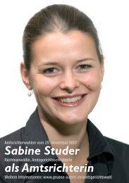 Sabine Studer als Amtsrichterin - Grüne Luzern
