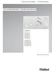 Gas condensing boiler • Gas-Brennwertkessel - Vaillant