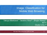 Image Classification for Mobile Web Browsing - WWW2006