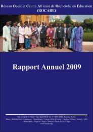 Télécharger le rapport annuel 2009 - ERNWACA