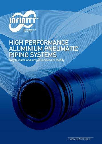 HIGH PERFORMANCE ALUMINIUM PNEUMATIC PIPING SYSTEMS