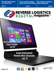 Edition 52 - Reverse Logistics Magazine