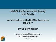 MySQL Performance Monitoring with Zabbix An ... - FromDual