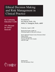 Ethical Decision Making and Risk Management in ... - The Trust