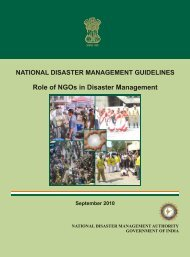 NDMA Guidelines On Role Of NGOs in Disaster ... - PreventionWeb