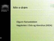 Min e-drøm - Norgesuniversitetet