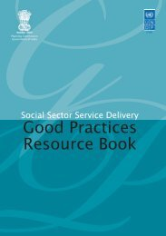 Social Sector Service Delivery - of Planning Commission