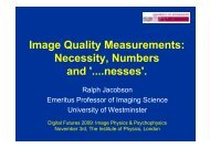 Image Quality Measurements - RPS Imaging Science Group