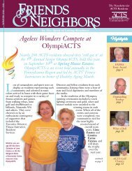 Ageless Wonders Compete at OlympiACTS - ACTS Retirement