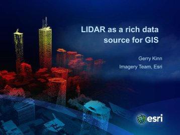 LiDAR as a Rich Data Source for GIS - NEURISA