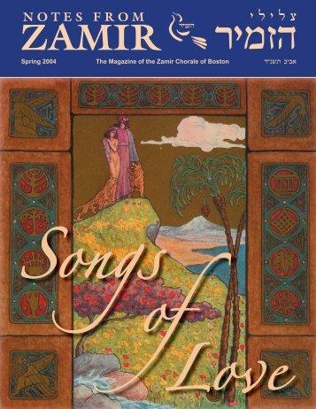Spring 2004 Issue (PDF) - Zamir Chorale of Boston