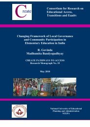 Changing Framework of Local Governance and - Create