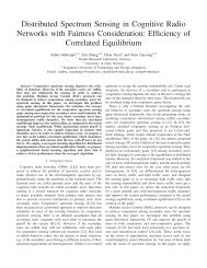 Distributed Spectrum Sensing in Cognitive Radio Networks with ...