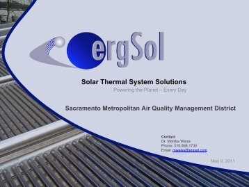 Solar Thermal Technologies - Sacramento Metropolitan Air Quality ...